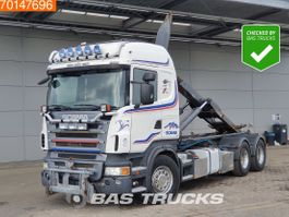 containersysteem vrachtwagen Scania R 6X4 9t Front Axle Hooklift 2008