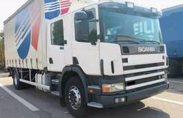 huifzeil vrachtwagen Scania 94 D 300 DOKA 6 sitz DOPPEL KABINE 2004