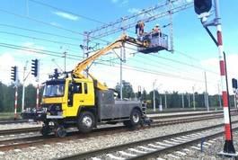 autohoogwerker vrachtwagen Volvo 6 Rail Platform Schienen TWO WAY 1990