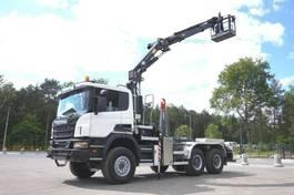 kipper vrachtwagen > 7.5 t Scania P 6x6 Crane Kran HMF 2020 Hooklift 2013