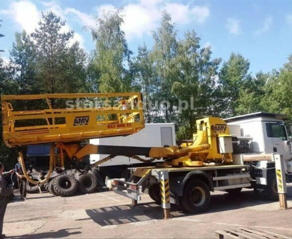 autohoogwerker vrachtwagen MAN TGA 18 4x4 AMV Platform 360 1000kg 2004