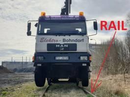 autohoogwerker vrachtwagen MAN .280 4x4 HIAB 166 Road RAIL Two way Schiene 2002