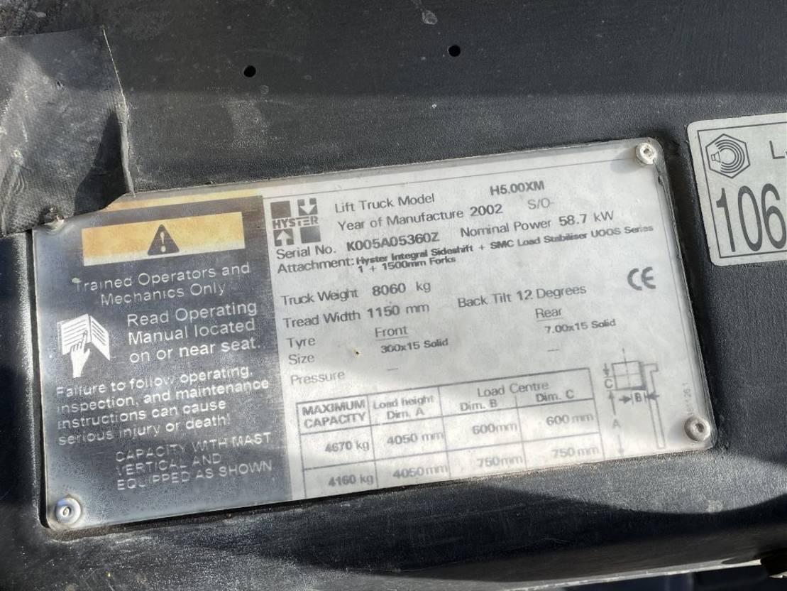vorkheftruck Hijster H5.00XM Max 4.05M 5 TON 2002