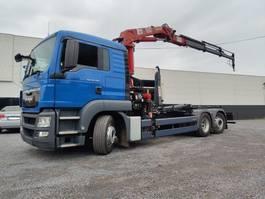 containersysteem vrachtwagen MAN TGS 26 Euro5 Container kraan HMF 1680 2013