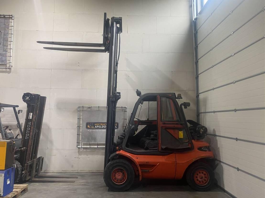 vorkheftruck Linde H45T LPG Freelift sideshift cabine verwarming extra hydrauliek 1999