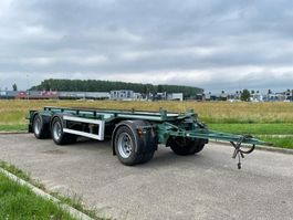 container chassis aanhanger GS Meppel GS meppel 3-assige container aanhanger 30 ton wide spride 2012