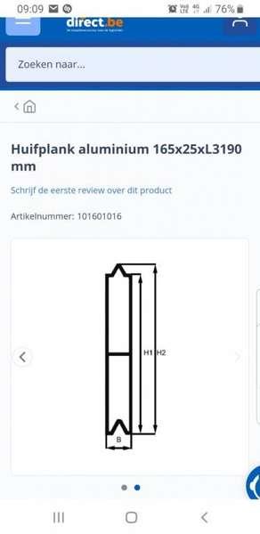 Diversen - aluminium huifplanken trailer 2