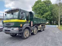 kipper vrachtwagen Renault Kerax 450 DXI - 8 X 4 BIBENNE- MANUELLE -lames