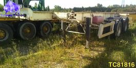 container chassis oplegger Castera Container Transport 1985