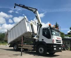 vuilniswagen vrachtwagen Iveco Stralis 190 AD190 Palfinger PK 14002 Crane Kipper 2012