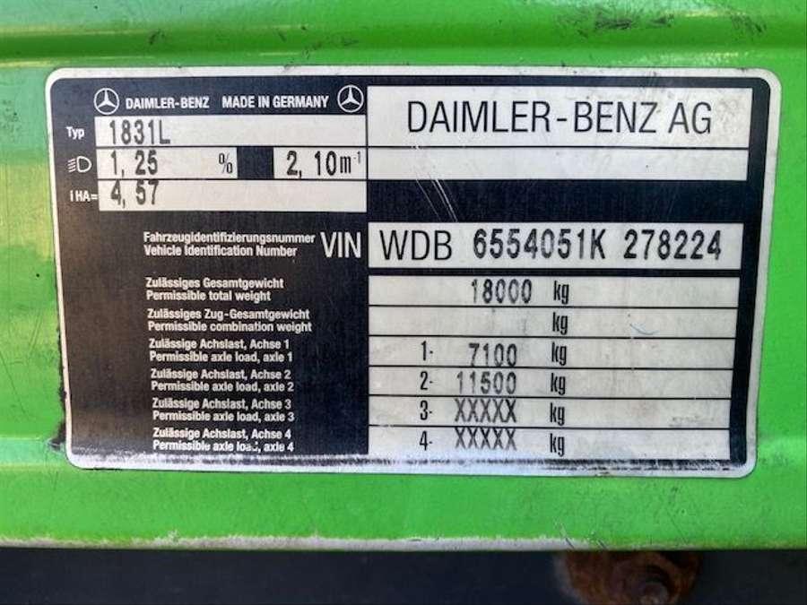Mercedes-Benz - Tankwagen Willig D-Fahrzeug -1 Hand/ADR!! 28