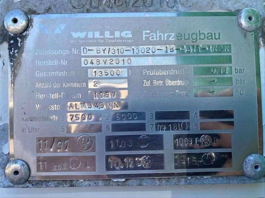 Mercedes-Benz - Tankwagen Willig D-Fahrzeug -1 Hand/ADR!! 16