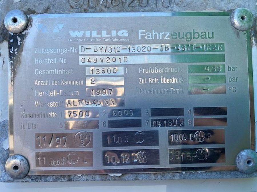 Mercedes-Benz - Tankwagen Willig D-Fahrzeug -1 Hand/ADR!! 22