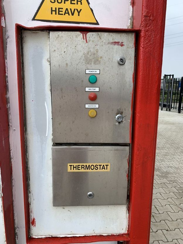 tankcontainer Van Hool El. heating, 20FT, swapbody TC 30.856L, L4BN, IMO-4, valid insp./CSC: 05/22 2000
