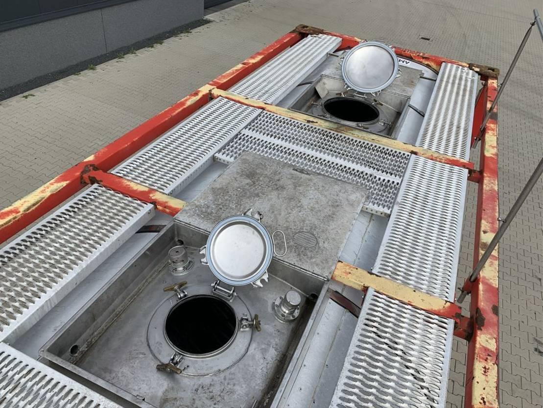 tankcontainer Van Hool El. heating, 20FT, swapbody TC 30.856L, L4BN, IMO-4, valid insp./CSC: 10/23 2000