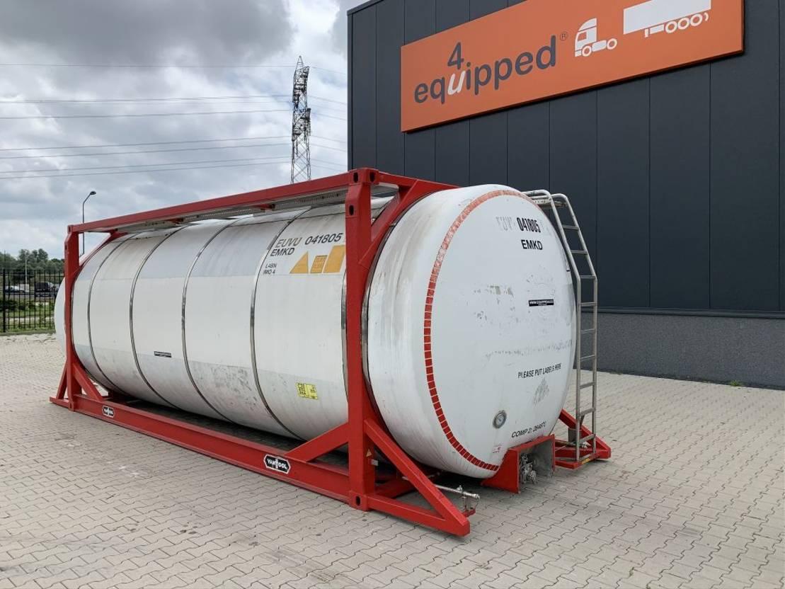 tankcontainer Van Hool 20FT,  33.966L / 2-comp (26.467L+7.499L), L4BN, IMO-4 2000