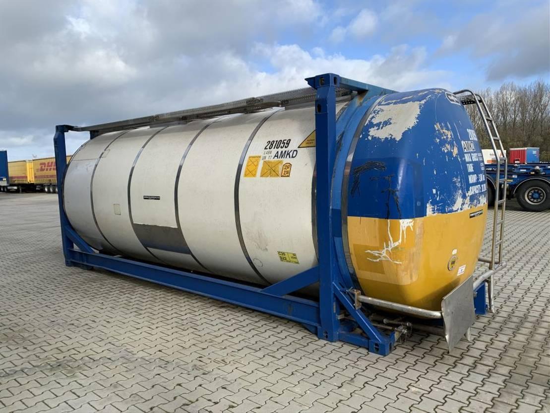 tankcontainer Van Hool 20FT, swapbody TC 28.200L, L4BN, UN PORTABLE, T7, payload: 31.720kg 2003