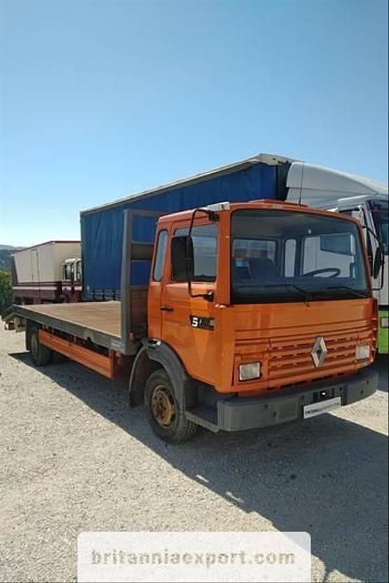 takelwagen-bergingswagen-vrachtwagen Renault S120 Turbo 7.7 ton left hand drive electric winch. 1992