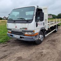 platform vrachtwagen Mitsubishi HD 3.9L Turbo + Intercooler 1999 7,5t GVW flatbed Aircond 1999