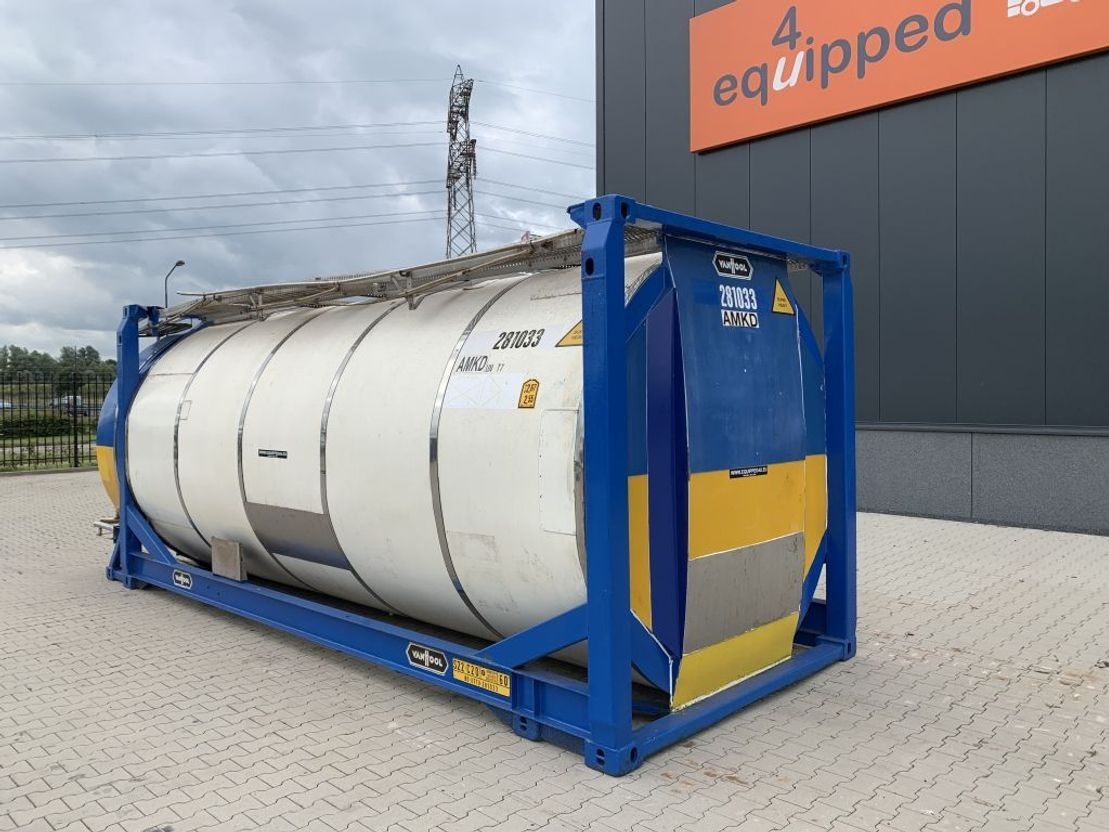 tankcontainer Van Hool 20FT, swapbody TC 28.200L, L4BN, UN PORTABLE, T7, 5y inspection: 08/2023 2003