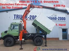 kipper bedrijfswagen <3.5 t Unimog U1450 4x4 Atlas 80.1 Kran 5.&6. Steuerkreis 1.Hd 1999