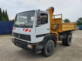 kipper vrachtwagen > 7.5 t Mercedes-Benz 1317 Kipper + Kraan 4x4 1993