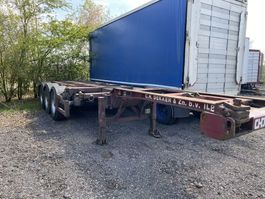 container chassis oplegger Kromhout Multi chassis.  Drum brake / bpw axle