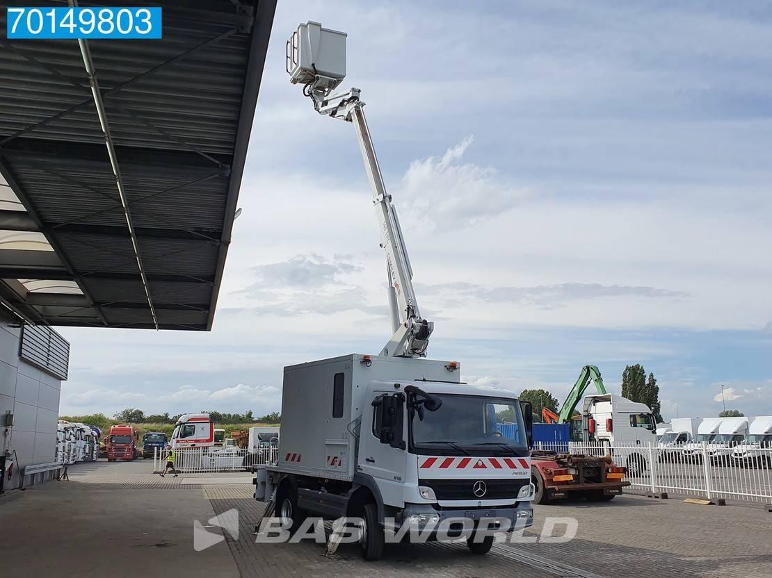 autohoogwerker vrachtwagen Mercedes-Benz Atego 818 4X2 14 Meters Manual Steelsuspension Euro 4 2009