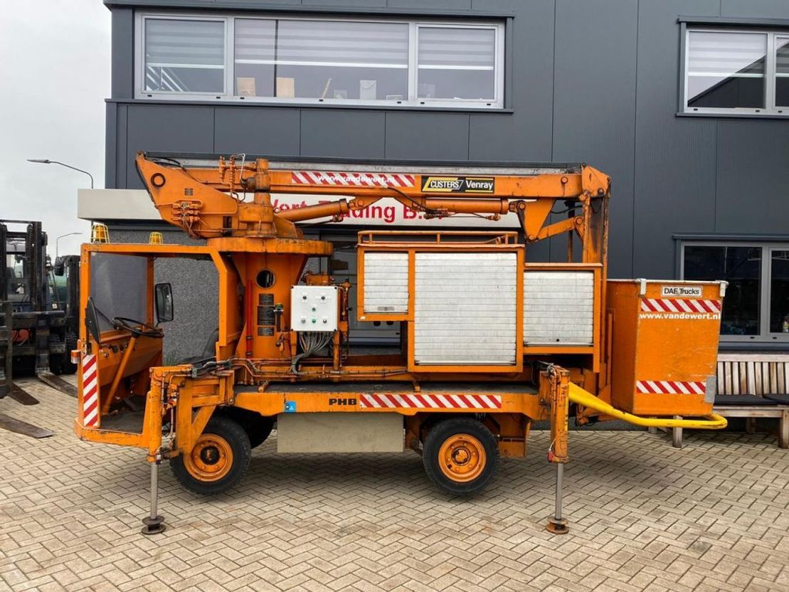 autohoogwerker vrachtwagen Diversen spijkstaal PHB met custers hoogwerker opbouw 11M werkhoogte Elektrisch Uniek 1986