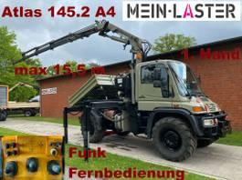 kraanwagen Unimog U 400 Seilwinde Atlas 145.2 A4 15.5 m Funk FB 2004