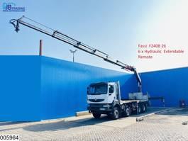 platform vrachtwagen Renault Kerax 410 Dxi 8X4, Steel suspension, Retarder, Fassi, Remote 2009