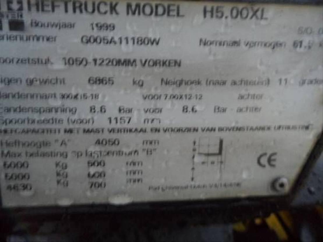 vorkheftruck Hyster H 5,00XL 1999