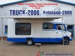 gesloten bestelwagen Mercedes-Benz 510 Wohnmobil + Büro mit Scheckheft 1.Hand 1997