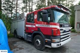 brandweerwagen vrachtwagen Scania brannbil w/ a lof of equipment 1998