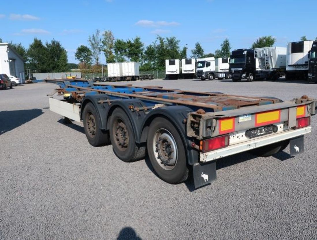 container chassis oplegger Schmitz Cargobull SCF 24G - 40 LX Liftachse Genset Thermo King 2011