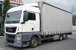 schuifzeil vrachtwagen MAN TGX 26 XLX , E6 , 6X2 , MEGA , 19 EPAL , RSAS system 2015