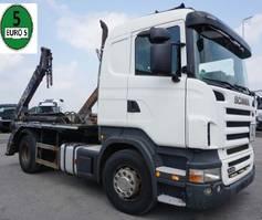 containersysteem vrachtwagen Scania R480 R 480 LB 4x2 Tele Absetzer Schalt Klima 2009