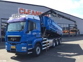 containersysteem vrachtwagen MAN TGS 35 8x4 16 ton/meter Z-kraan+ Container 18m3 2009
