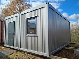 kantoor woonunit container Cell-DUO containers 4.88 x 5.85m silver NEW, Residential container, Office container, Living container, Commercial container 2021