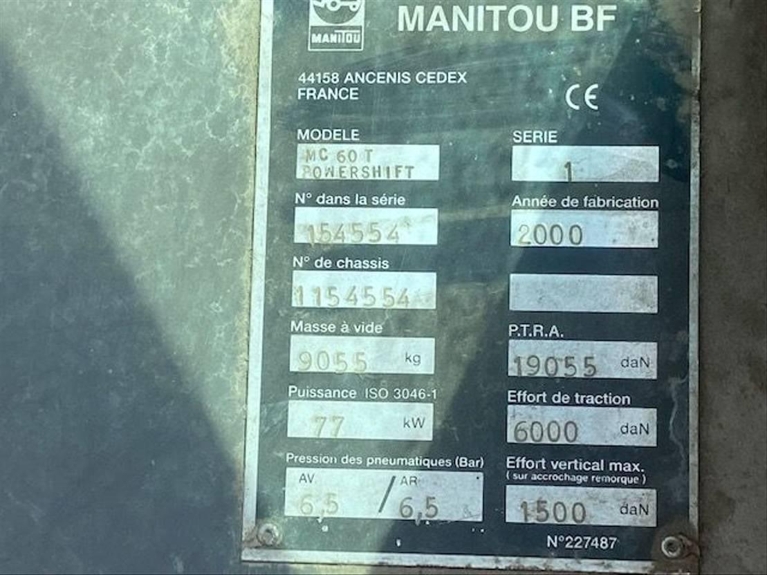 vorkheftruck Manitou mc60 2000