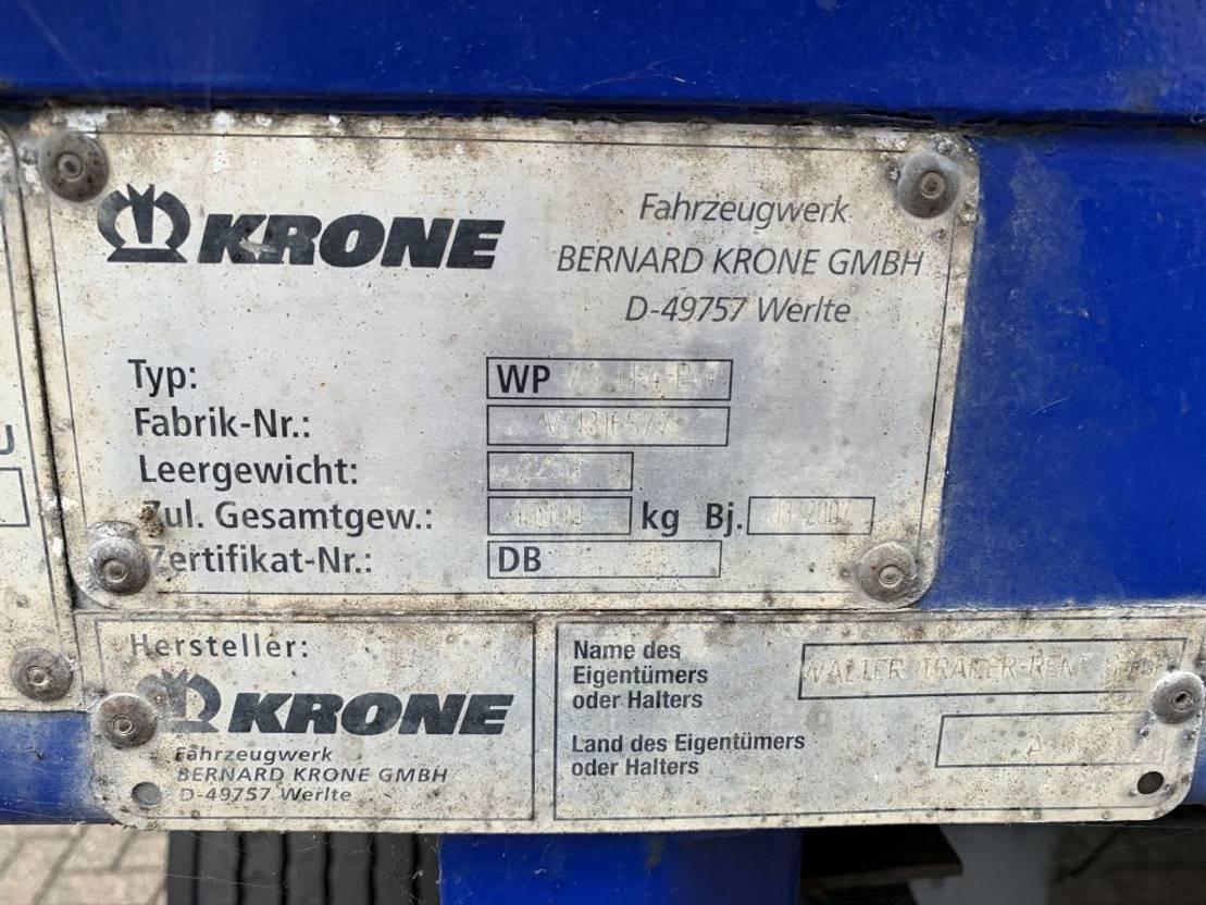 flat rack zeecontainer Krone 2x Krone flat rack 2007 2007