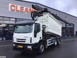 kipper vrachtwagen > 7.5 t Ginaf C 3128 N Hiab 21 ton/meter laadkraan 2010
