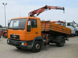 kipper vrachtwagen > 7.5 t MAN L2000 10.163 2-Achs Kipper Kran 1997