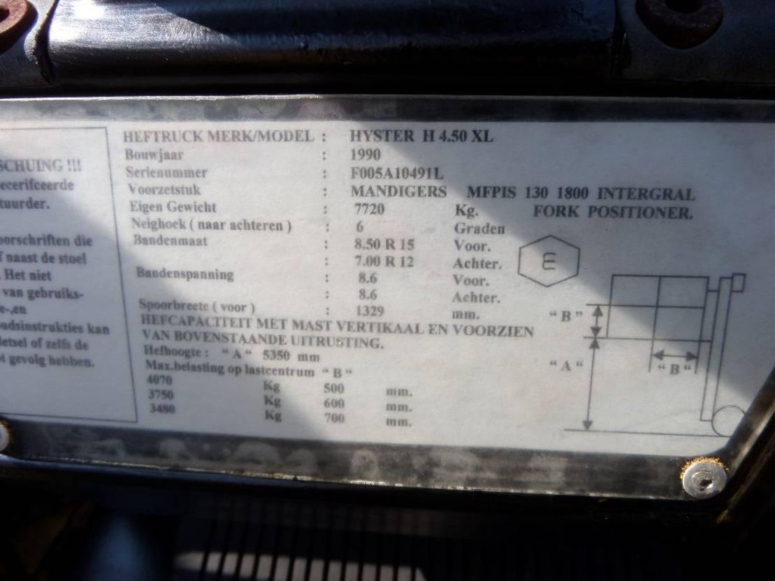 vorkheftruck Hyster H4.50XL 1990