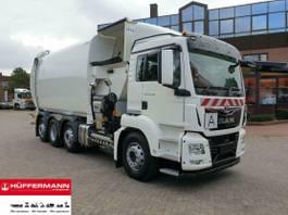 vuilniswagen vrachtwagen MAN TGS 33 8x2-6 mit NTM Seitenlader 32 cbm 2021