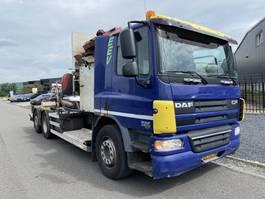 vuilniswagen vrachtwagen DAF CF 75 / AUTOMATIC / ONLY 154.000 KMS / 6x2 / TRANSLIFT ZIJLADER / MEESTURENDE ACHTERAS 2008