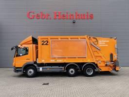 vuilniswagen vrachtwagen Mercedes-Benz Atego 2129 6x2 Faun Variopress Euro 5 Garbagetruck! 2008