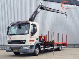 platform vrachtwagen DAF LF 45.220 Hiab 9TM Kraan, Crane, Kran, Grue - NL Truck - Euro 5 2009