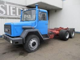 chassis cabine vrachtwagen Iveco Magirus Deutz 256, 6x4 , V8 , ZF Manual , Spring suspension 1983