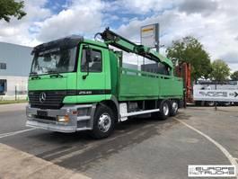 platform vrachtwagen Mercedes-Benz Actros 2540 Steel/Air - Manual - Crane / Kran / Grue 1998